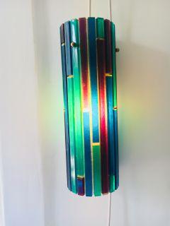 Moe Fiesta Mid Century Lucite Swag Pentant Lamp