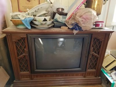 Old tv and stand