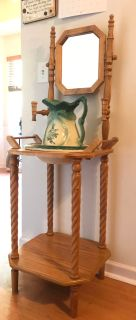 Washbasin and Pitcher with stand.