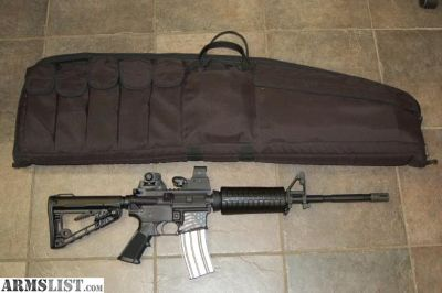 For Sale: Anderson AM-15 M4 AR-15 with Sightmark, Case, Mag & Rogers Super Stock