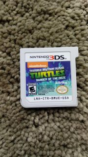 Nintendo 3DS game TMNT Danger of the Ooze . Works perfectly