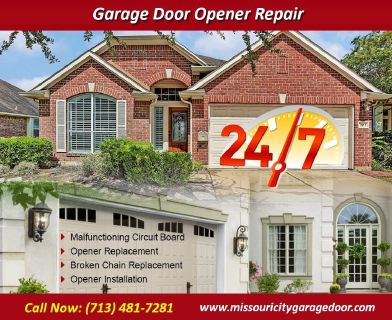 Top Most Rated Garage Door Opener Repair ($25.95) Missouri City Houston, 77459 TX