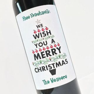 Personalized Christmas bottle labels
