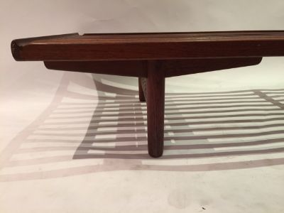 Excellent danish made slat bench coffee table