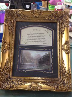 God's Promise Picture in gold frame
