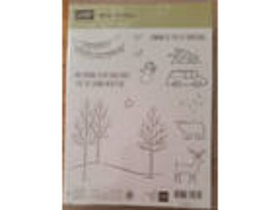 Stampin up WHITE CHRISTMAS Trees Car Bear Deer New Year
