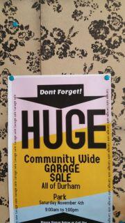 Neighborhood yard sale October 4