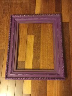 Purple Frame with wire hanger 25 x 32