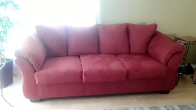 Full size red couch