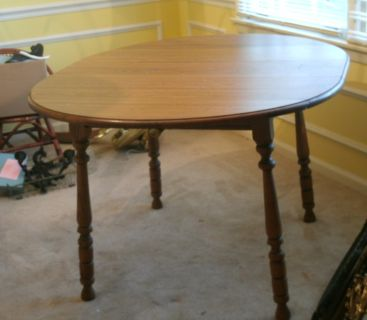 Vintage Kitchen Dining Drop Leaf Table