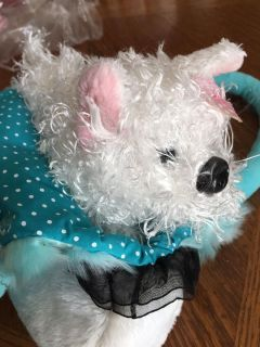 GANZ TO GO TODDLER PURSE WITH WITH PUPPY MOLLY. NEW WITH TAG. BLUE AND WHITE