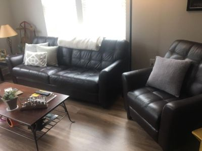couch and reclining chair