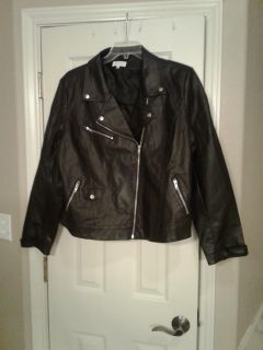 Leather Jacket (light weight lined) EUC