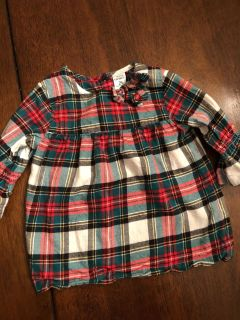 2t plaid top Carters
