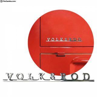 VW AirCooled Volksrod Script Emblem Badge