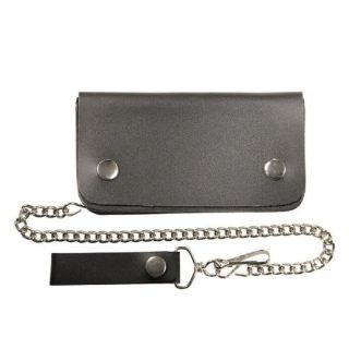 """Sell Genuine Black Leather Biker Trucker Billfold with Stainless Chain 8"""" Wallet motorcycle in Bemidji, Minnesota, United States, for US $19.99"""