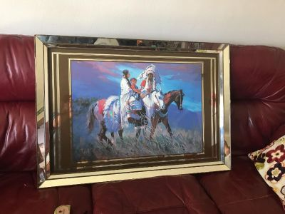 Beautiful large mirror Indian picture