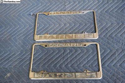Vintage Oxnard Barnes License Plate Frames