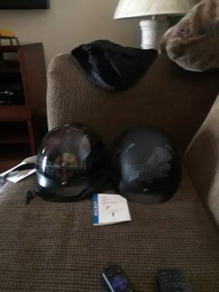 Motor cycle helmets new never been worn