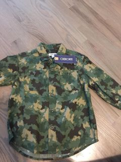 Brand new long sleeve camo button up