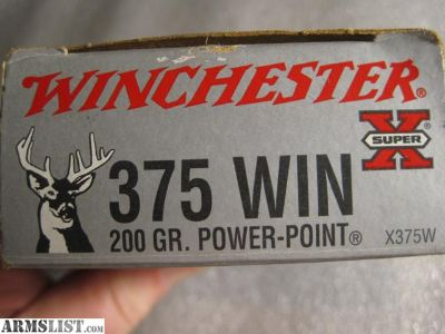 For Sale: 375 Winchester Ammo