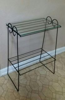 WROUGHT IRON/GLASS TABLE.....EXCELLENT CONDITION