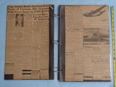 $900, Extensive World War II Newspaper Scrapbook Collection