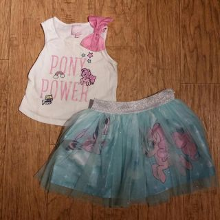 My little Pony tutu and blouse Size 4-5 (small stain in the blouse, not too much noticeable)