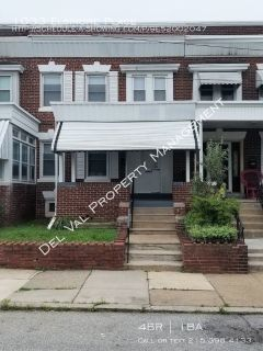 Well-maintained 4-Bedroom Row Home for Rent - 1033 Elsinore Street