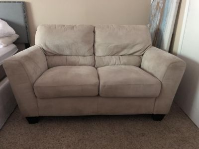 Off-white Suede Loveseat $80 OBO