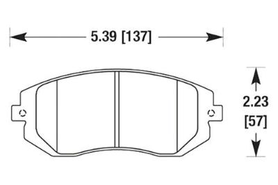 Purchase HAWK HB432Z.661 - 2005 Saab 9-2 Front Brake Pads Ceramic motorcycle in Chino, California, US, for US $101.64