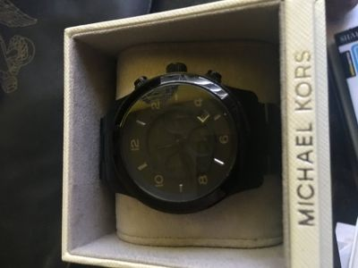 Black Michael Kors Male Watch