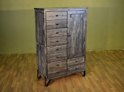 Rustic Style Solid Parota Wood 5-drawer 1-door ...
