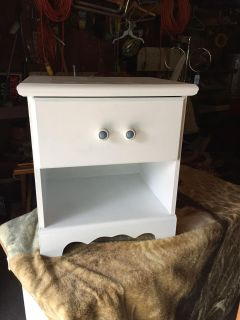White nightstand solid wood