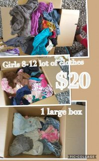 Girls lot of clothes size 8-12