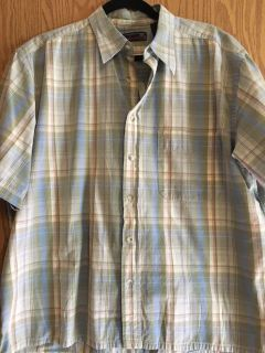 Large short sleeve button up