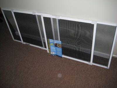 """Adjustable window screens 18"""" high expands from 20"""" to 37"""""""