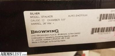 For Sale: Browning Silver Stalker