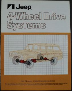 Sell 1980 Jeep 4 Wheel Drive Systems Product Information Brochure motorcycle in Holts Summit, Missouri, United States, for US $17.80
