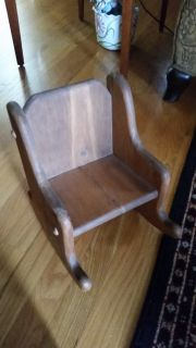 Wooden doll rocking chair