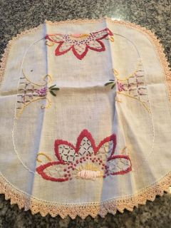 Hand embroidered linen