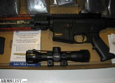 For Sale: M&P 15 SPORT AR 15 -22 never fired