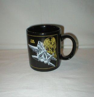 """F-15 Eagle """"Blackbird"""" Coffee Mug - 1988"""