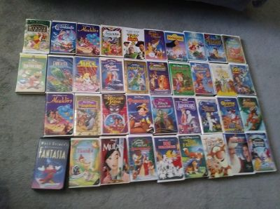 38 VHS Childrens Disney Movies P