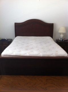 Queen Size Bed Frame with Mattress
