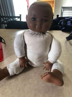 Ceramic head arms and feet baby doll