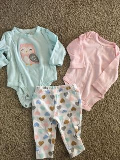 3 piece Carters outfits