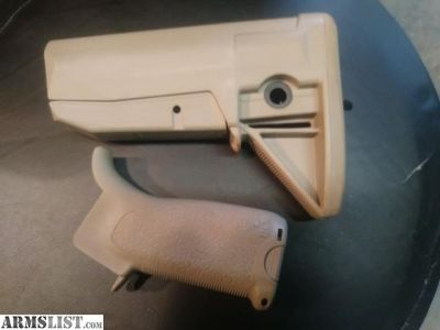 For Sale: Bravo tan gunfighter stock and grip