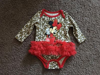 3-6 month like new Minnie Mouse dress onesie