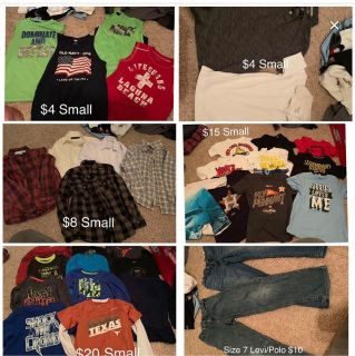 Boys size small clothes